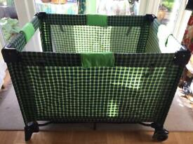 Baby travel cot with mattress excellent condition