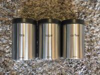 Brabantia tea, coffee and sugar pots