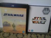 Star Wars Complete Movie Box Set Blu Ray and Star Wars VII (11 Blu Ray Discs)