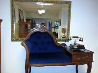 beautiful antique telephone chair and antique telephone.excellent condition.