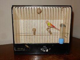 Bar Stage Prop Vintage Wooden Bird Cage Curio Cabinet Travel Box Retro Design Mid Century 40's 50's