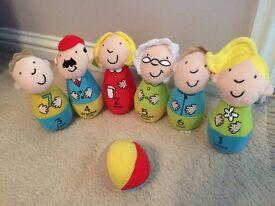 Childrens soft bowling set