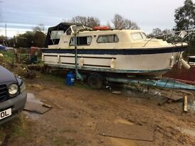 Norman cruiser in need of TLC , colour blue and white