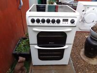 hotpoint ceramic electric cooker 60cm double oven