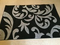 Nearly New Black and Grey (Silver) Rug 120cm x 170cm £30