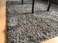 Soft Thick Shaggy Rug Funny XXL Beige - Non-Shedding High Pile Modern Carpet