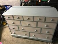 Beautiful solid pine painted unit shabby chic look