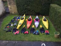 Kayaks for sale and lots of gear to go with