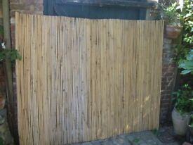 Heavy bamboo garden screen