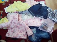 A bag full of girls clothing