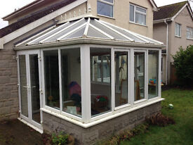 Good condition white upvc conservatory - 3m x 3m approx.