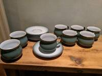 Denby regency green tea set