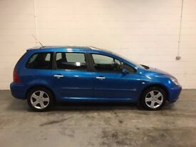 PEUGEOT 307 2.0 DIESEL ESTATE, 5 MONTHS MOT,HISTORY, GREAT CONDITION THROUGHOUT, TRADE IN TO CLEAR