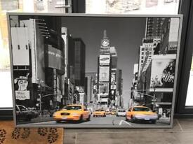 Framed picture of Times Square New York