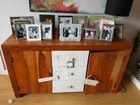PRICE DROP!! solid wood sideboard & matching drinks unit