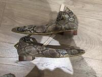 Flats snakeskin print and feel size 7
