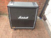 MARSHALL 1960A 4 X 12 LEAD GUITAR CABINET 300 WATTS TATTY TOLEX GOOD ORDER