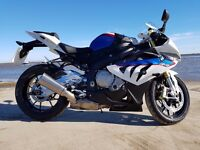2012 BMW S1000RR SPORT MOTORSPORT COLOURS, FULL BMWSH, BLUE/WHITE, WITH EXTRAS