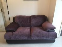 3 and 2 Seater Sofa Brown