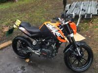 Ktm 125 duke with 390 engine fitted