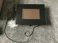 Electric wall mounted heater/fire display