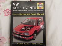 USED HAYNES WORKSHOP MANUAL V W GOLF & VENTO 1992-1998