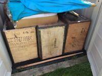 3 tea chest boxes