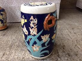 Beautiful Ceramic Garden/Conservatory Stool