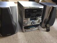 Sharp hi fi system CD player radio tape player mini disc