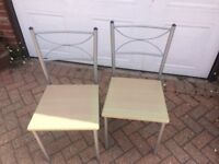 Table and 4 chairs £30