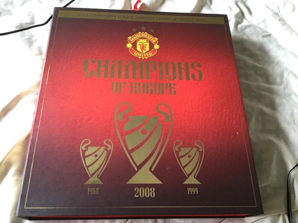 f01972978 Manchester United UEFA Champions League Winners Commemorative Shirt. NOW  SOLD