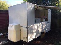 SOLD! Catering Trailer, burger, hot dog van, cold/hot food,tea,coffee, gas/electricity stainless st