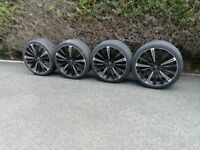 JUST REDUCED - expensive (RRP £1,700.00) 22 inch 5/108 HAWKE alloy wheels from Range Rover Evoque