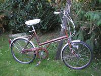raleigh shopper vintage bike,3 speed classic,all original 1970,s,recent tyres,runs 100 percent
