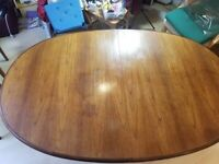 G Plan solid wood extending oval dining table & 6 padded chairs teak? kingswood