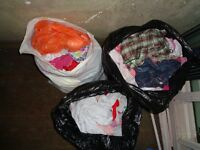 0-12 months 3 x large bin liners full of girls clothes