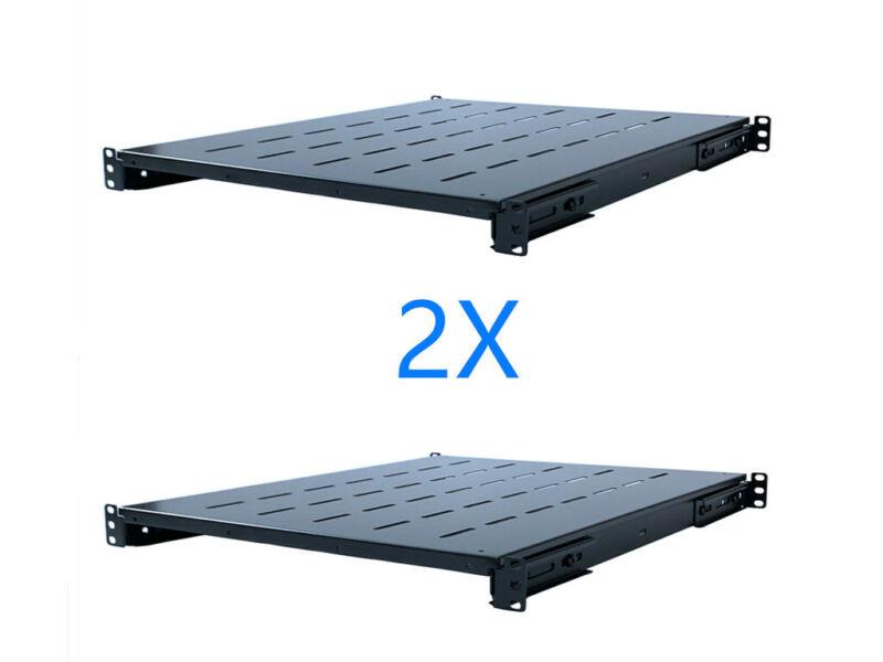 2Pcs Fixed Rack Server Shelf 1U 19