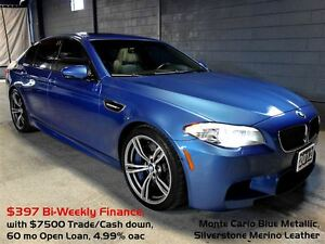2012 BMW M5 560hp Turbo V8, Cool/Heated Seats, Head-Up Display