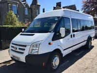FORD TRANSIT MINIBUS 2013 MODEL T430 135BHP 17 SEAT 1 OWNER CHARITY OWNED LOW MILES FSH FIRST CLASS