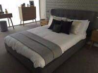 Birlea Kensington double bed frame with mattress - ex display as new