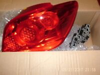 Peugeot 307 S - OSR / Driver's Side Rear Tail Light 6351 X1 with Bulb Holder NEW