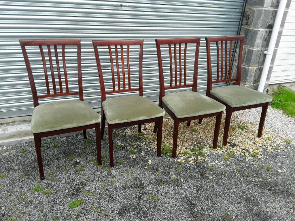 Set of four Nathan dining chairs