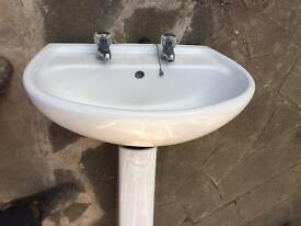 Bathroom basin and pedestal