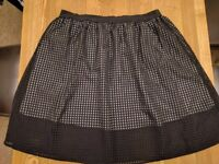 Size 26, plus size, black overlay mesh skirt, Simply Be