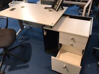 Desk and Drawer Set
