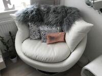 ****Lovely modern swivel love seat/snuggle/cuddle chair****