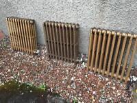 Cast iron bay window radiators