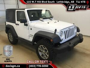 Used 2015 Jeep Wrangler 4WD Sport-6 Speed Manual,Removable Roof