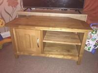 Oak tv corner unit-