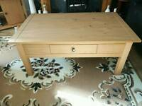 Solid pine coffee table(no offers)